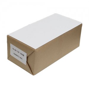 No.28-135  白色両面無地ハガキ厚手・超縦長(120x235) 国産上質135kg(薄手) 【500枚】  情報量の多いDMに最適!
