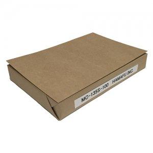 No.MC135S-100  クラフト紙サンクスカード(二つ折り可) (100mmx148mm) 【100枚】