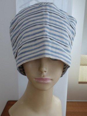 医療用帽子(ストライプ)