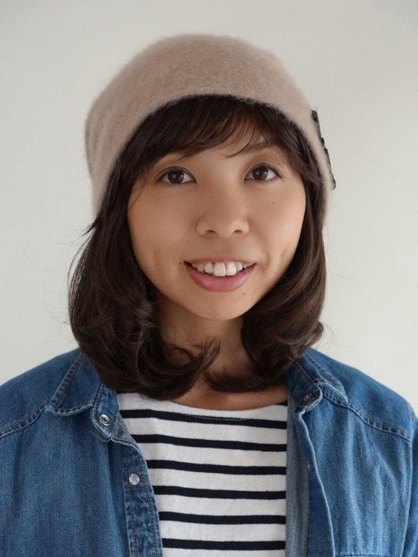 医療用 ミックス帽子用つけ毛ミディアム巻き髪タイプ(キャップ縫付)