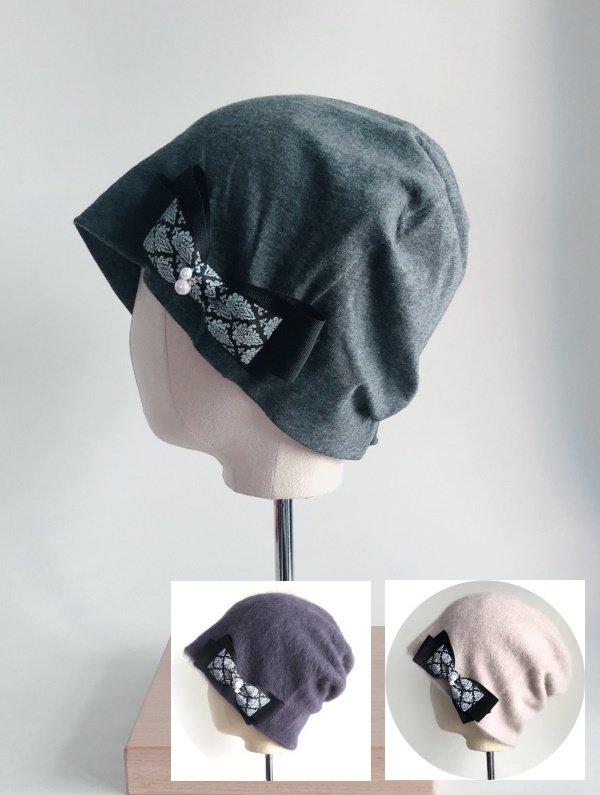 かわいい♡リボン付き医療用帽子 ribbon-008