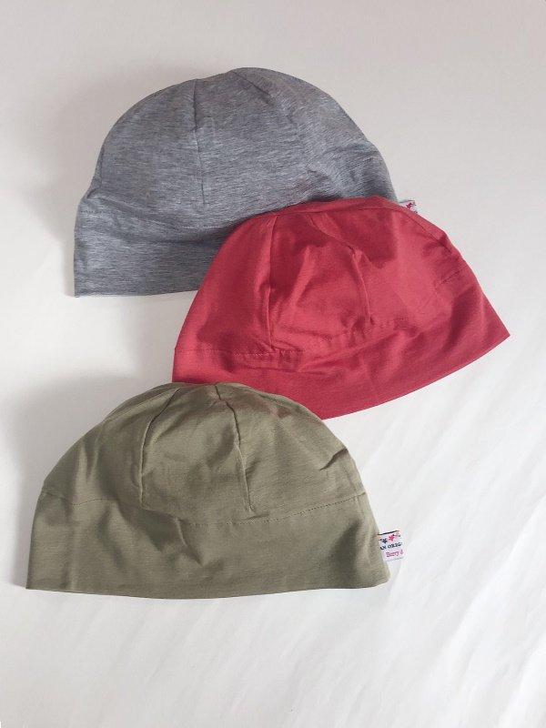SALE やわらかテンセルのシンプル帽子3色セット