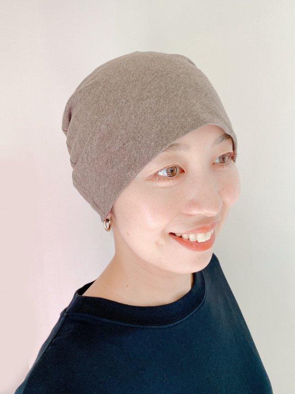 ふんわり涼しいインナーメッシュの医療用帽子/オーガニックコットン天竺