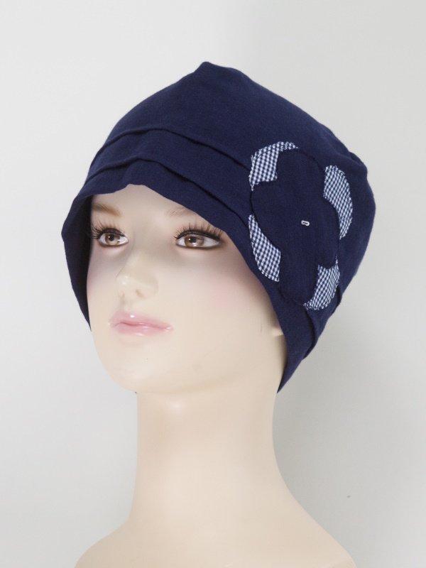 医療用帽子 02 ネイビーブルー