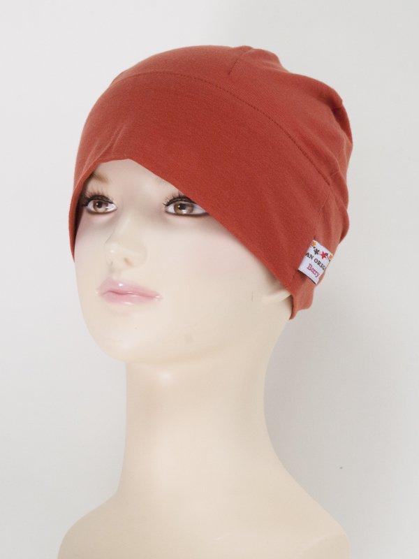 やわらかテンセルのシンプル帽子
