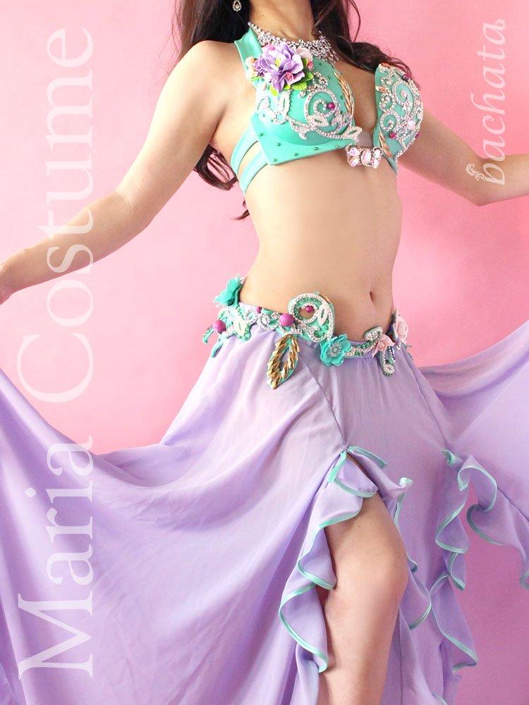 ベリーダンス衣装 Maria ブラベルト+スカート (送料無料)