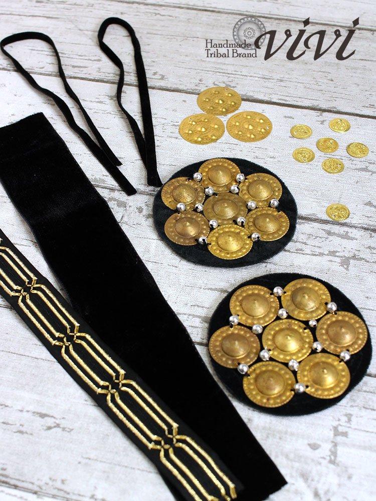 【vivi】作ってみよう♪ヘッドドレス手作りキット・ゴールド(送料無料!)