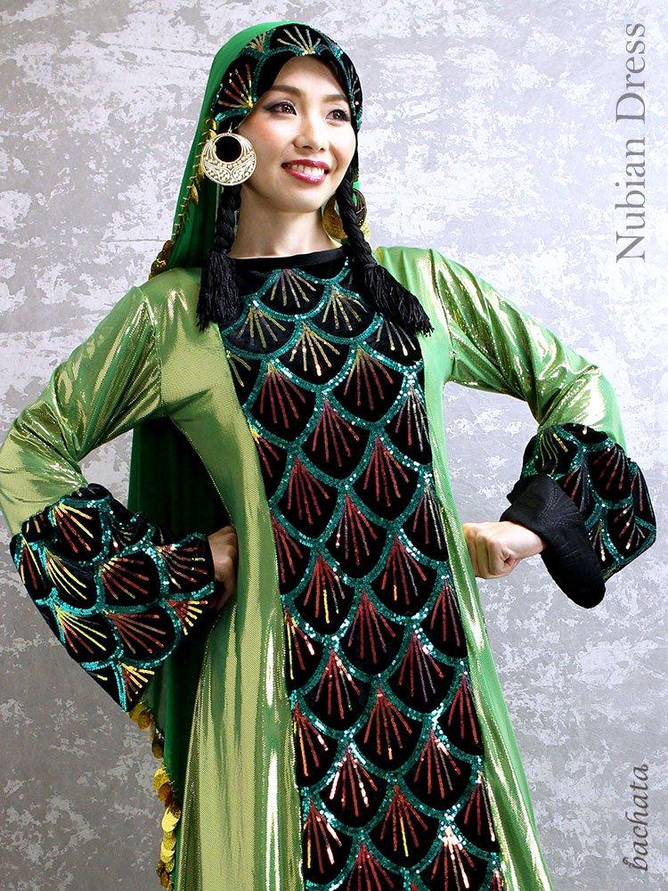 【訳あり】Hanan ヌビアンドレス Nubian Dress・FD0105・1点のみ