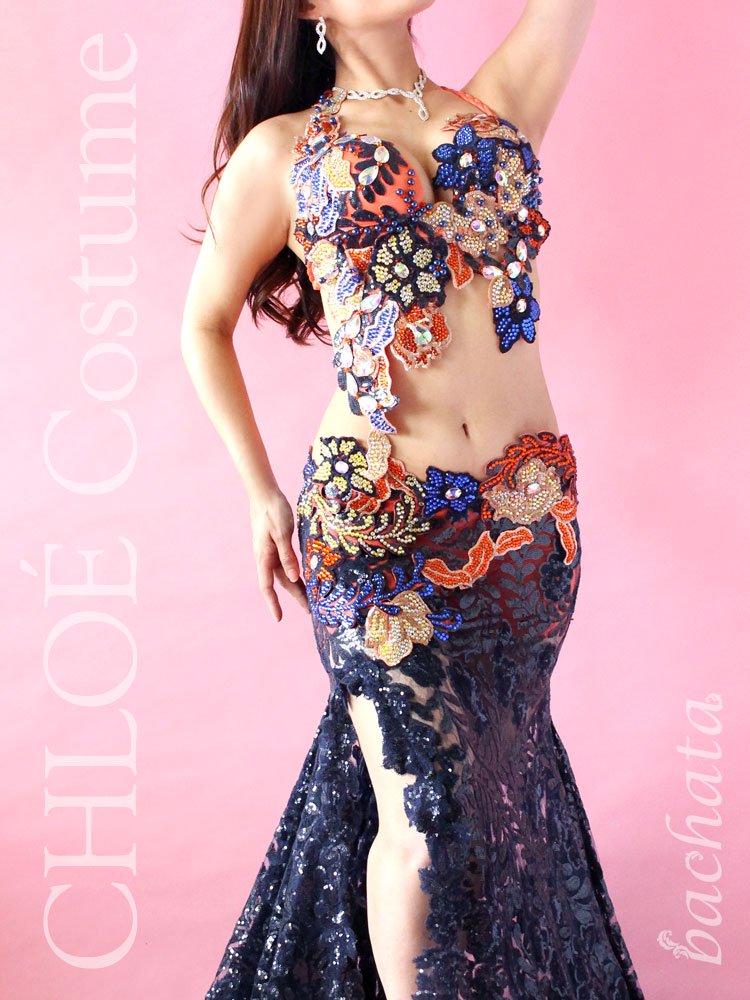 【セミオーダー】ベリーダンス衣装 CHLOÉ マルチカラー 308 (送料無料)