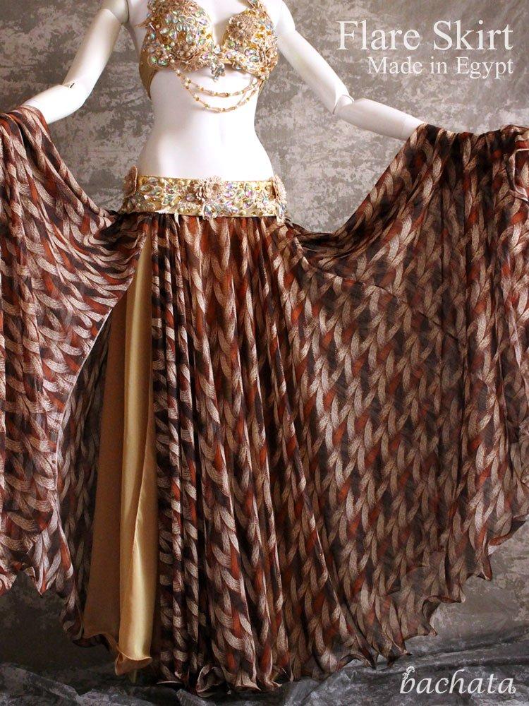 エジプト製・網目柄シフォンスカート