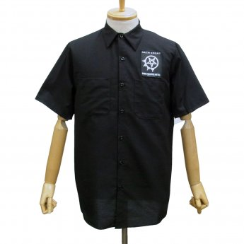 CUSTOM MADE - ARCH ENEMY PENTAGRAM SHORT SLEEVED WORKSHIRT
