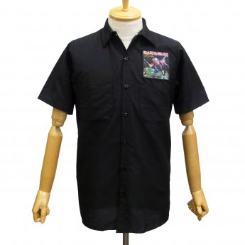 CUSTOM MADE - IRON MAIDEN TROOPER SHORT SLEEVED WORKSHIRT