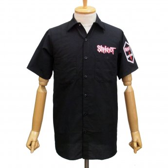 CUSTOM MADE - SLIPKNOT LOGO & CREST SHORT SLEEVED WORKSHIRT