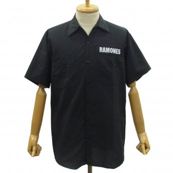 CUSTOM MADE - RAMONES SEAL SHORT SLEEVED WORKSHIRT