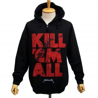 METALLICA - KILL EM ALL MUTATED ZIP-UP HOODED SWEATSHIRT