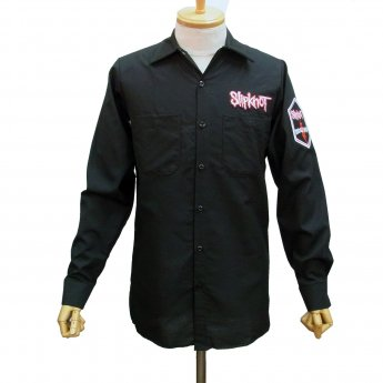 CUSTOM MADE - SLIPKNOT LOGO & CREST LONG SLEEVED WORKSHIRT