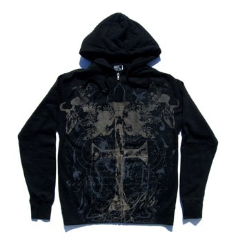 <img class='new_mark_img1' src='//img.shop-pro.jp/img/new/icons24.gif' style='border:none;display:inline;margin:0px;padding:0px;width:auto;' />PIKE APPAREL - IRON CROSS ZIP-UP HOODED SWEATSHIRT
