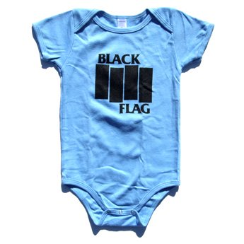 BLACK FLAG - BARS & LOGO BLUE BABY ONESIE
