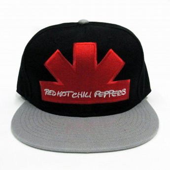 RED HOT CHILI PEPPERS - ASTERISK LOGO BLK/GREY BASEBALL CAP