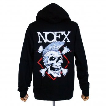 <img class='new_mark_img1' src='//img.shop-pro.jp/img/new/icons3.gif' style='border:none;display:inline;margin:0px;padding:0px;width:auto;' />NOFX - PUNK SKULL ZIP-UP HOODED SWEATSHIRT