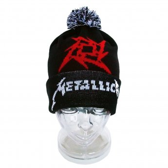 METALLICA - GLITCH STAR LOGO BOBBLE KNIT CAP