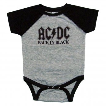 <img class='new_mark_img1' src='https://img.shop-pro.jp/img/new/icons5.gif' style='border:none;display:inline;margin:0px;padding:0px;width:auto;' />AC/DC - BACK IN BLACK BASEBALL BABY ONESIE