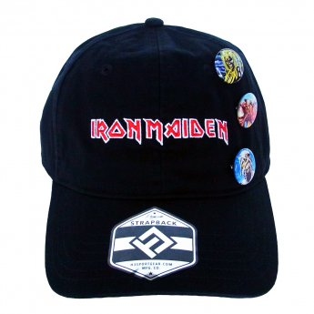 <img class='new_mark_img1' src='https://img.shop-pro.jp/img/new/icons5.gif' style='border:none;display:inline;margin:0px;padding:0px;width:auto;' />IRON MAIDEN - LOGO & BADGES BASEBALL CAP