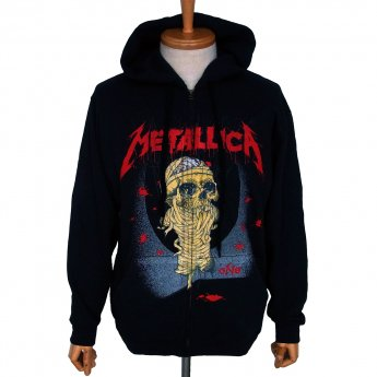 <img class='new_mark_img1' src='https://img.shop-pro.jp/img/new/icons5.gif' style='border:none;display:inline;margin:0px;padding:0px;width:auto;' />METALLICA - ONE LANDMINE ZIP-UP HOODED SWEATSHIRT