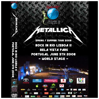 <img class='new_mark_img1' src='//img.shop-pro.jp/img/new/icons24.gif' style='border:none;display:inline;margin:0px;padding:0px;width:auto;' />METALLICA - ROCK IN RIO, LISBOA 2 PORTUGAL JUNE 5TH 2008 DVD