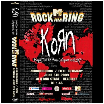 <img class='new_mark_img1' src='//img.shop-pro.jp/img/new/icons24.gif' style='border:none;display:inline;margin:0px;padding:0px;width:auto;' />KORN - ROCK AM RING FESTIVAL JUNE 5TH 2009 DVD