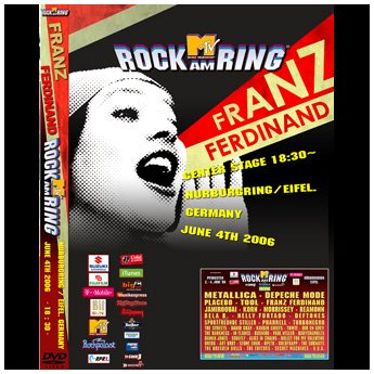<img class='new_mark_img1' src='https://img.shop-pro.jp/img/new/icons24.gif' style='border:none;display:inline;margin:0px;padding:0px;width:auto;' />FRANZ FERDINAND - ROCK AM RING FESTIVAL JUNE 4TH 2006 DVD