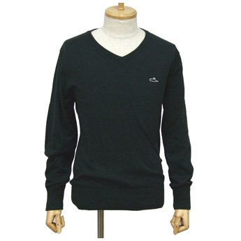 <img class='new_mark_img1' src='//img.shop-pro.jp/img/new/icons24.gif' style='border:none;display:inline;margin:0px;padding:0px;width:auto;' />ATTICUS CLOTHING - FREDERICK BLACK V-NECK KNIT SWEATER