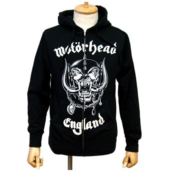 MOTORHEAD - CLASSIC ENGLAND ZIP-UP HOODED SWEATSHIRT