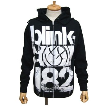 BLINK 182 - 3 BARS ZIP-UP HOODED SWEATSHIRT