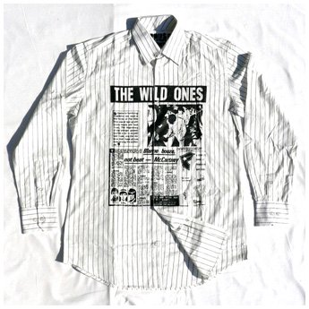 <img class='new_mark_img1' src='//img.shop-pro.jp/img/new/icons24.gif' style='border:none;display:inline;margin:0px;padding:0px;width:auto;' />FAMOUS STARS & STRAPS - WILD ONES WHITE L/SLV SHIRT