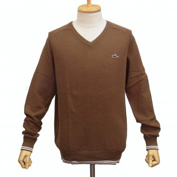 ATTICUS CLOTHING - FREDERICK BROWN V-NECK SWEATER