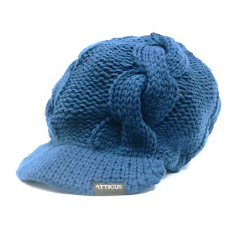 <img class='new_mark_img1' src='//img.shop-pro.jp/img/new/icons24.gif' style='border:none;display:inline;margin:0px;padding:0px;width:auto;' />ATTICUS CLOTHING - CABLE NAVY VISOR KNIT CAP