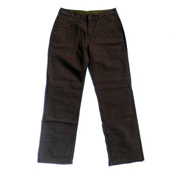 ATTICUS CLOTHING - 5 POCKETS REGULAR FIT PANTS BROWN