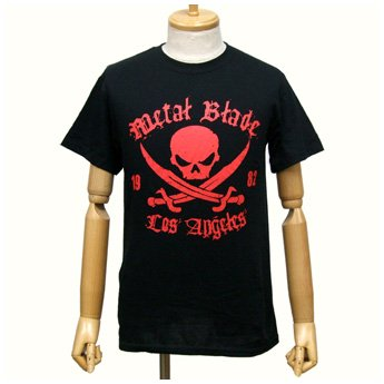 METAL BLADE RECORDS - RED PIRATE LOGO ON BLACK