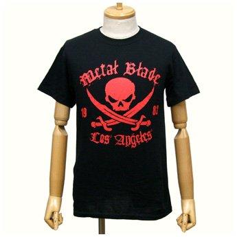 METAL BLADE RECORDS - RED PIRATE LOGO ON BLACK