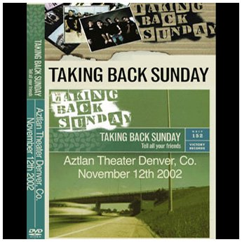 <img class='new_mark_img1' src='https://img.shop-pro.jp/img/new/icons24.gif' style='border:none;display:inline;margin:0px;padding:0px;width:auto;' />TAKING BACK SUNDAY - AZTLAN THEATER DENVER, CO.11.12.2002 DVD