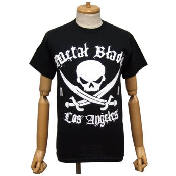 METAL BLADE RECORDS - WHITE PIRATE LOGO ON BLACK