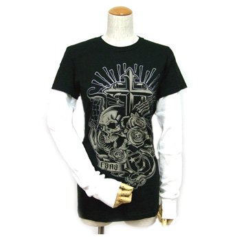 FAMOUS STARS & STRAPS - BLACK TATTOO BLACK GIRLS LONG SLEEVED T-SHIRT