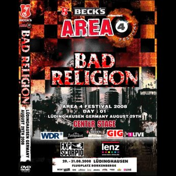 BAD RELIGION - AERA 4 FESTIVAL LUEDINGHAUSEN GERMANY AUGUST 29TH 2008 DVD