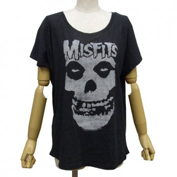 MISFITS - DISTRESSED SKULL DOLMAN SLEEVED GIRLS