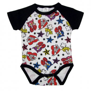 BABY ROMPERS - OLD TATTOO SHORT SLEEVE