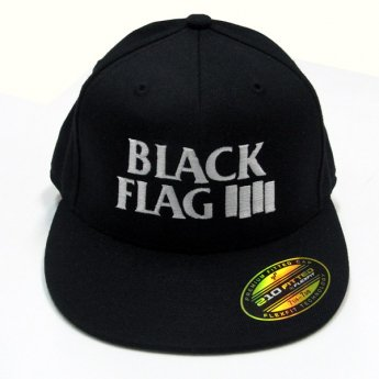 BLACK FLAG - BARS & LOGO FLEXFIT BASEBALL CAP