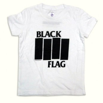 BLACK FLAG - BARS & LOGO WHITE TODDLER