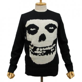IRON FIST CLOTHING - MISFITS CRIMSON GHOST SKULL SWEATER