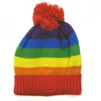 KIDS KNIT CAP - RAINBOW